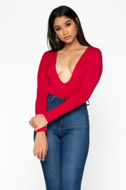 Red Long Sleeve Bodysuit