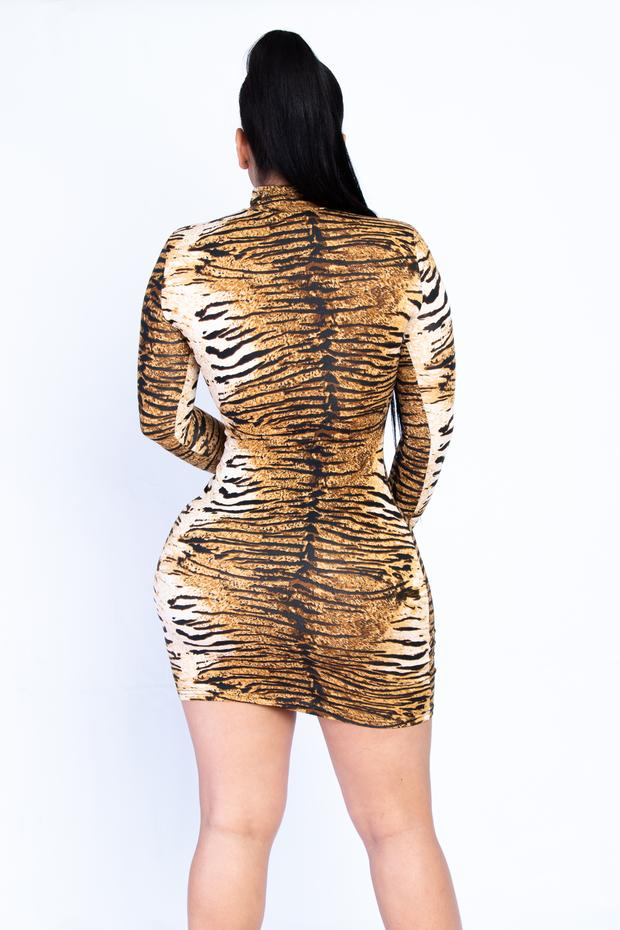 Tiger Glove Mini Dress