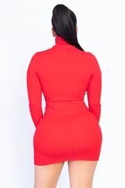 Red Turtleneck Mini Dress