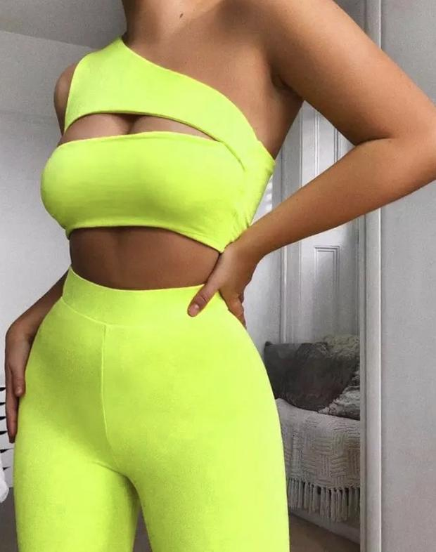 Neon Green 2 Piece Set